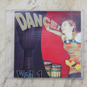 picture of front of CD with dancer, djembe and dunduns