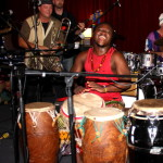 African drummer and band