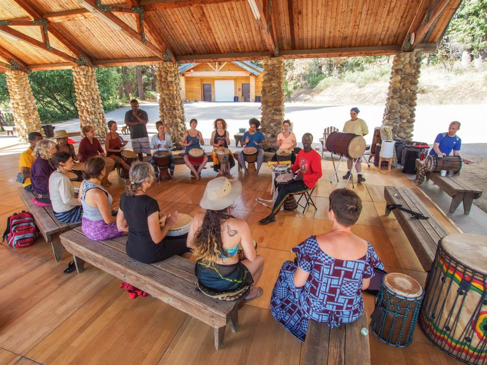 Djembe class at Camp fareta