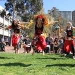Student African dance performance, Carlton