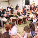 African drumming at Coburg Night Markets