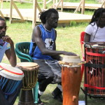 Sabar drum class with Lamine Sonko