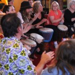 Djembe players at west African festival