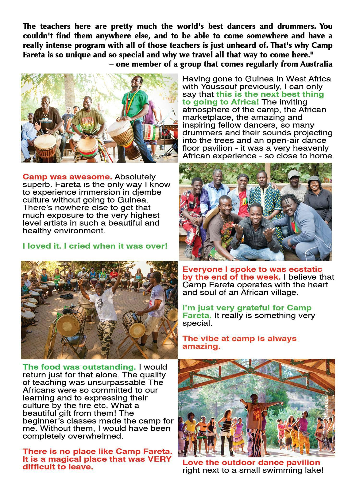 Camp Fareta 2017 info