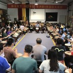 Simon teaching djembe class in China