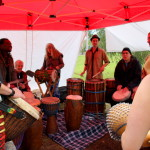 Dun dun and djembe players at Run with the Rhythm