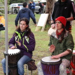 Djembe students at Run with the Rhythm